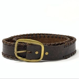 Leather and Brass Belt